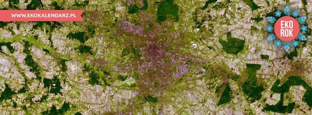 Łódź z satelity. Zdj. NASA