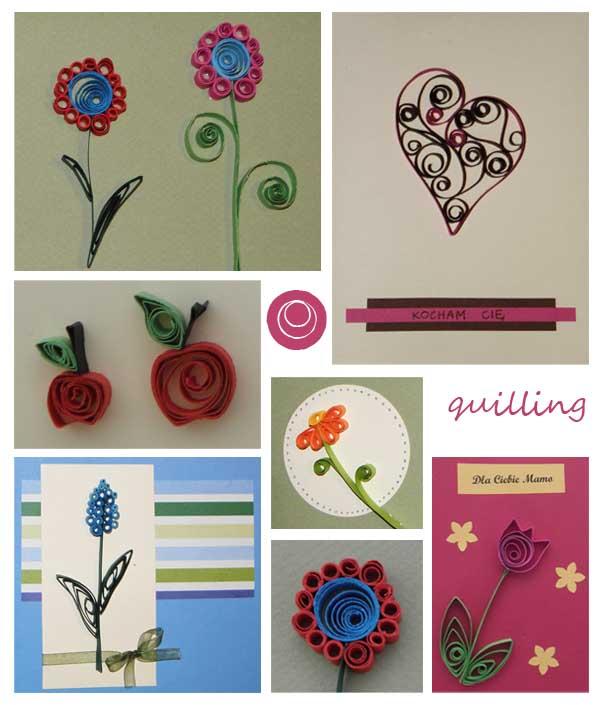 kwiatek z quillingu